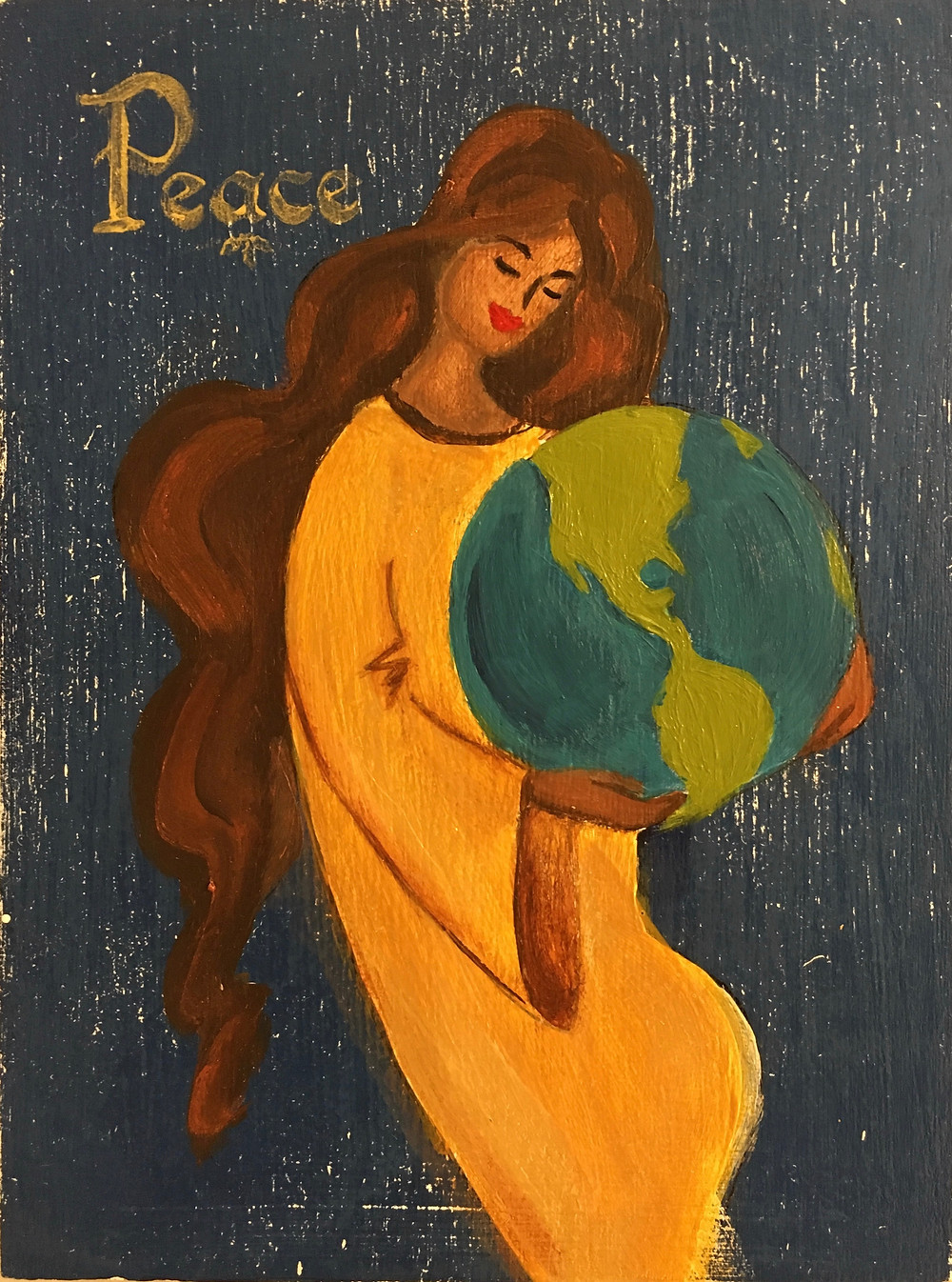 "World Peace with Mother Nature. Perfect little holiday stock stuffers! Each panel is 6""x8"" acrylic"