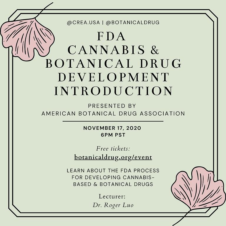 Introduction to FDA Cannabis & Botanical Drug Development