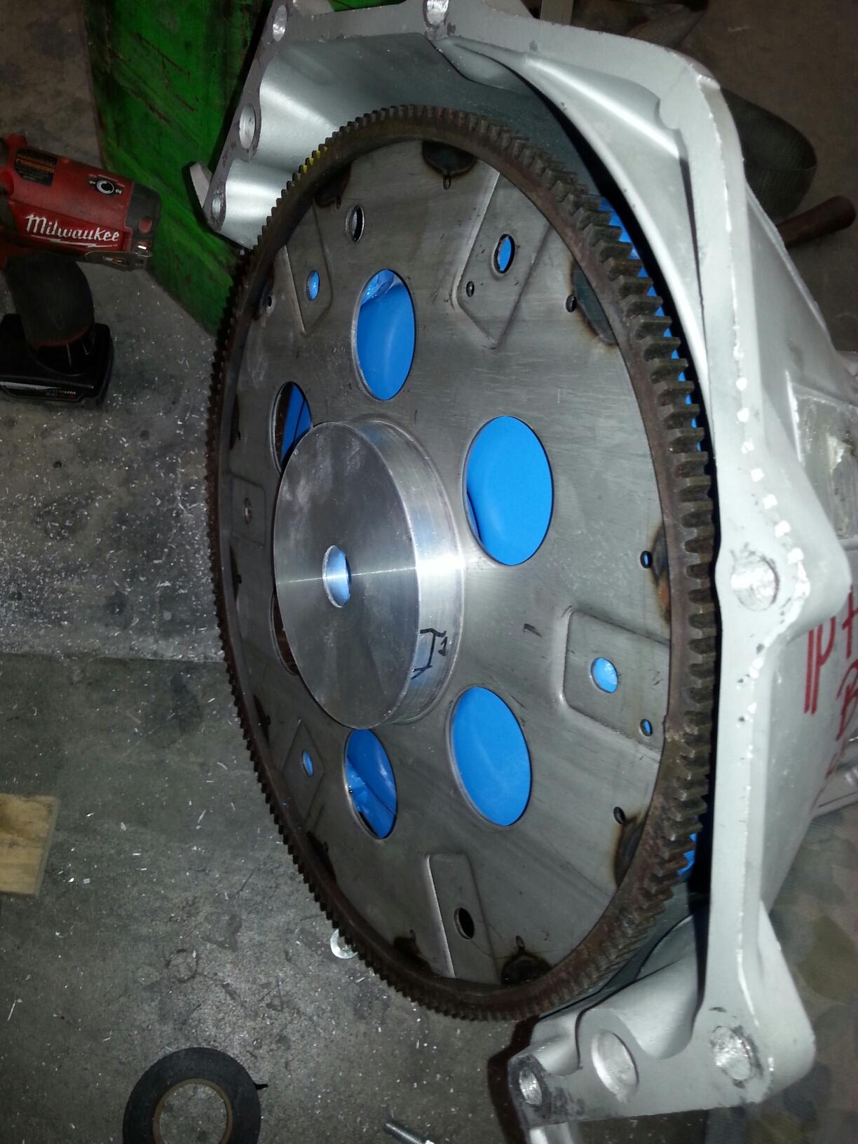making crank hub studebaker to 700r4