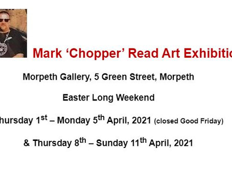 Ears to Chopper's art - a killer of an exhibition 1st - 5th April 2021