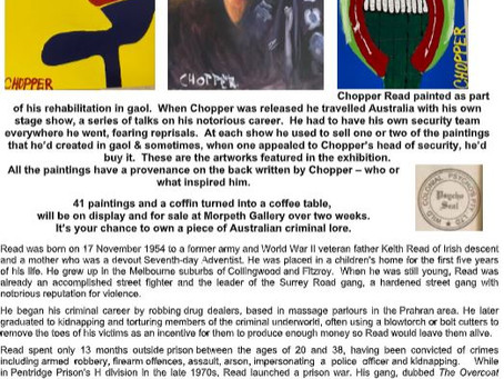 Mark 'Chopper' Read Art Exhibition