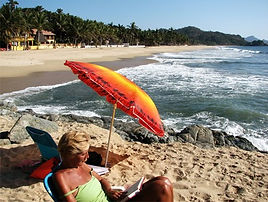 Sunbathing in San Pancho, Nayarit, Mexico