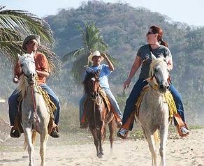 Horseback in San Pancho, Nayarit, Mexico