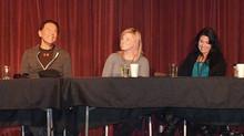 Durango Film Festival Panel - Meggie Maddock with Wes Studi, John Rubano and Tina Presley Borek