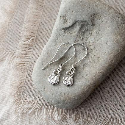 Flower Child Peace Mini Earrings | Sterling Silver