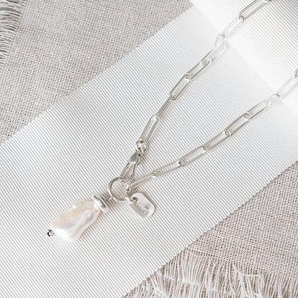 'Luna' Biwa Pearl Choker | Sterling Silver