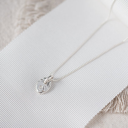 River Pebble Pendant with Diamond | Sterling Silver