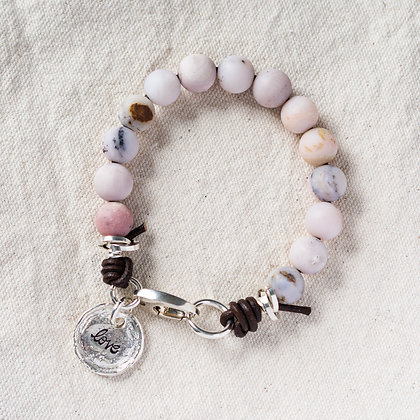 'The Cove' Love Pink Opal Bracelet | Sterling Silver