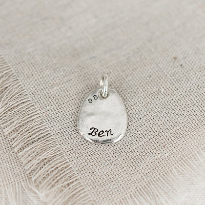 Beach Stone Heirloom Tag (only) | Sterling Silver