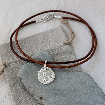 Ubuntu 'Love' Leather Choker | Sterling Silver