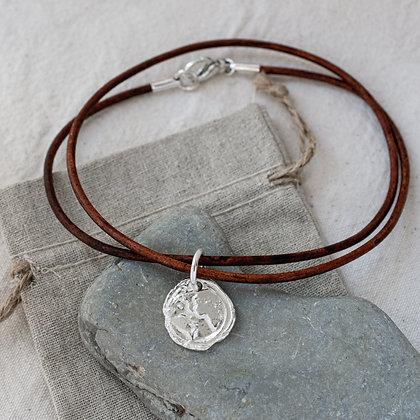 Ubuntu 'Love' Leather Choker with Diamond | Sterling Silver