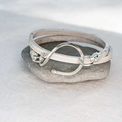Stable Wrap in Driftwood | Sterling Silver