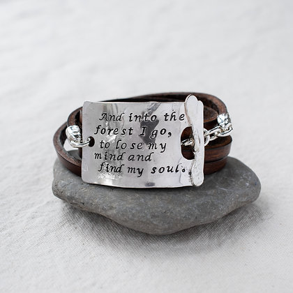"""""""Into the forest I go"""" Word Wrap 