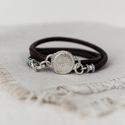 'Stay Lost' Wrap Bracelet | Sterling Silver