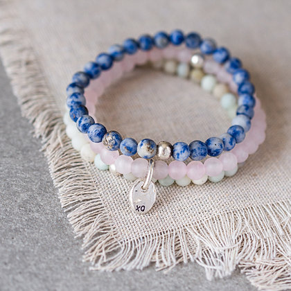 Starry Love Trio Stone Bracelet | Sterling Silver