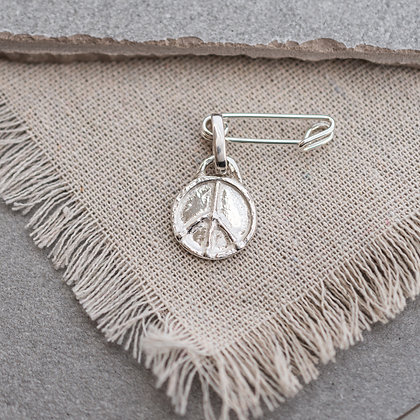 Flower Child Peace Pin | Sterling Silver