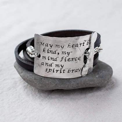 """May my heart be kind"" Word Wrap 