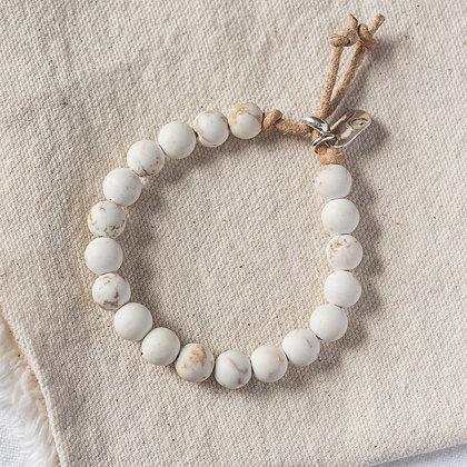 Petite 'High Tide' White Turquoise Bracelet | Sterling Silver
