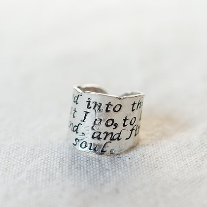 """Into the forest I go"" Amulet Ring 