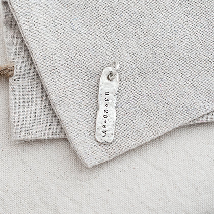Oblong Heirloom Tag (only) | Sterling Silver