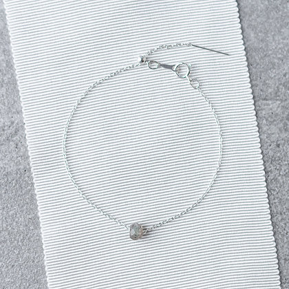 Labradorite Chain Bracelet   Sterling Silver