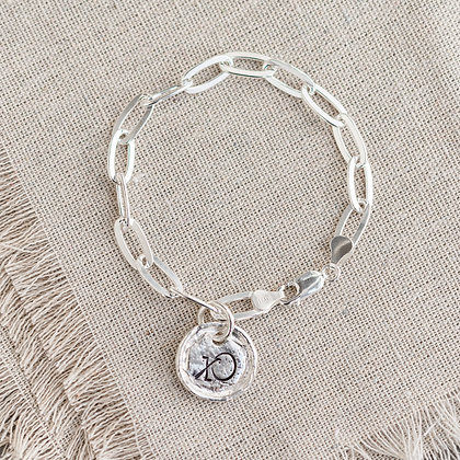 'XO' Link Bracelet | Sterling Silver