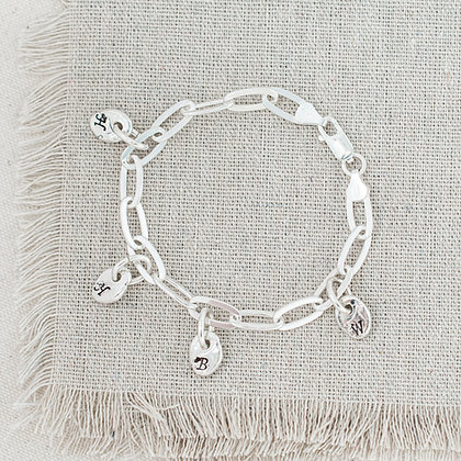River Pebble Charm Bracelet | Sterling Silver