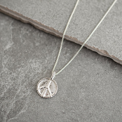 Flower Child Peace Necklace | Sterling Silver