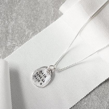 'Main dans la main' Necklace with Diamond | Sterling Silver