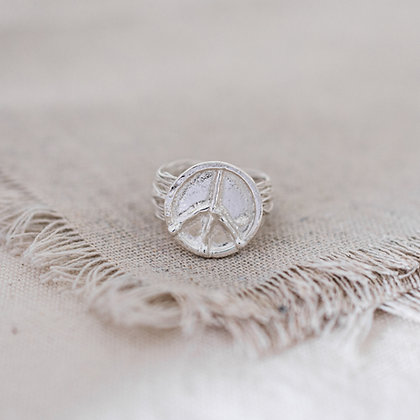 Flower Child Peace Ring | Sterling Silver