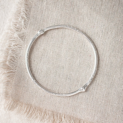 Molten Bangle | Sterling Silver