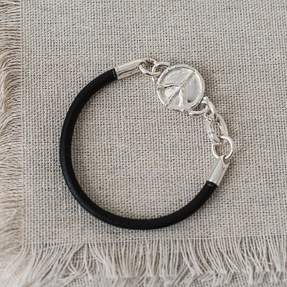 Flower Child Peace Bracelet | Sterling Silver