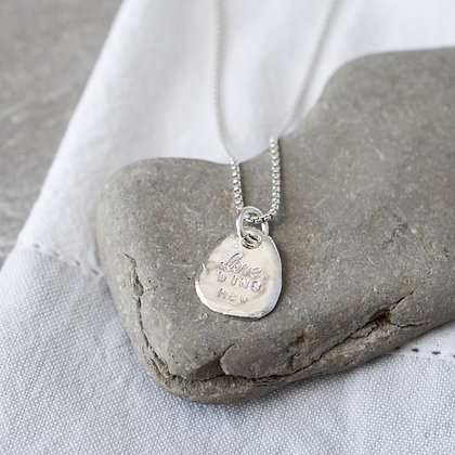 'Love Wins' Necklace | Sterling Silver