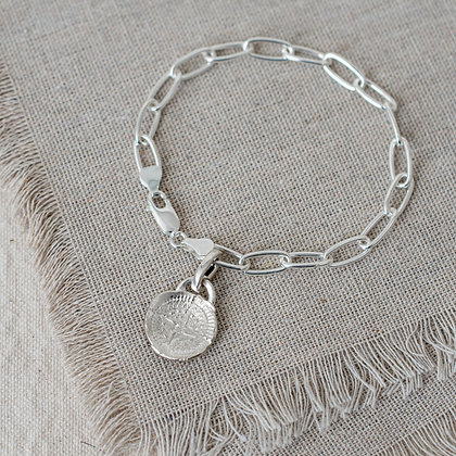 'Stay Lost' Tag Bracelet | Sterling Silver