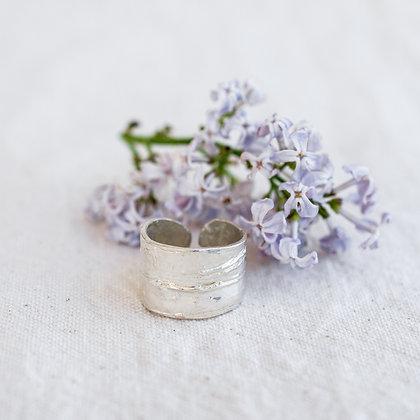 Bark Ring   Sterling Silver