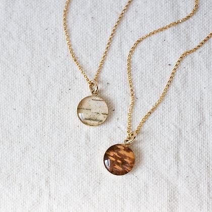 Golden Birch Pendant | 14k Gold-filled