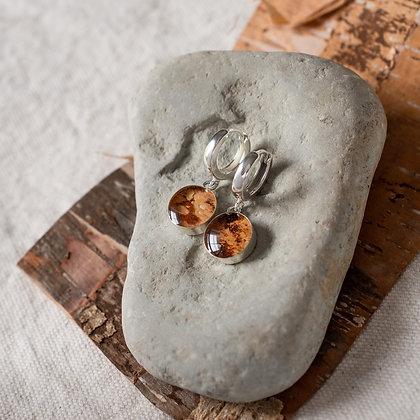 Birch Mini Hoop Earrings | Sterling Silver