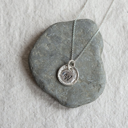 Round Heirloom Pendant | Sterling Silver
