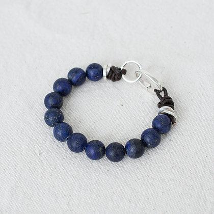 'Gaia' Lapis Bracelet | Sterling Silver