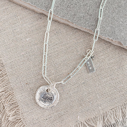 'Everlasting Love' Necklace with Raw Diamond | Sterling Silver