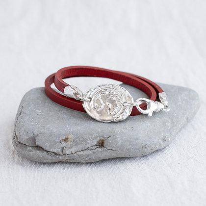 Ubuntu Wrap in TAOC Red | Sterling Silver