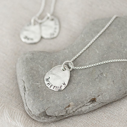 Beach Stone Heirloom Necklace | Sterling Silver