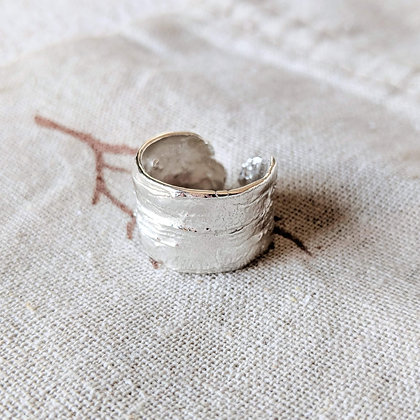 Sterling Silver Shield Ring   Canadian Design Handmade Jewelry - Whitney Haynes Designs