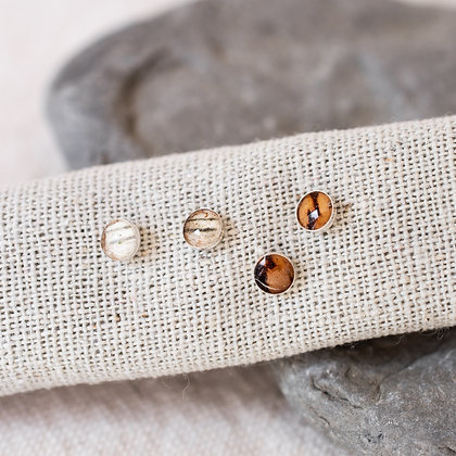 Birch Mini Studs | Sterling Silver