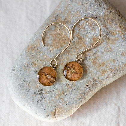 Hanging Birch Earrings   14k Gold-filled