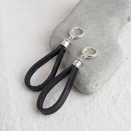 Stable Earrings in Blacksmith   Sterling Silver