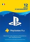 Abonnement au Playstation Plus de 12 mois