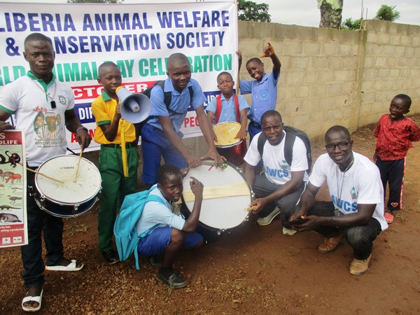World Animal Day Celebration (Morris kneeling in front)