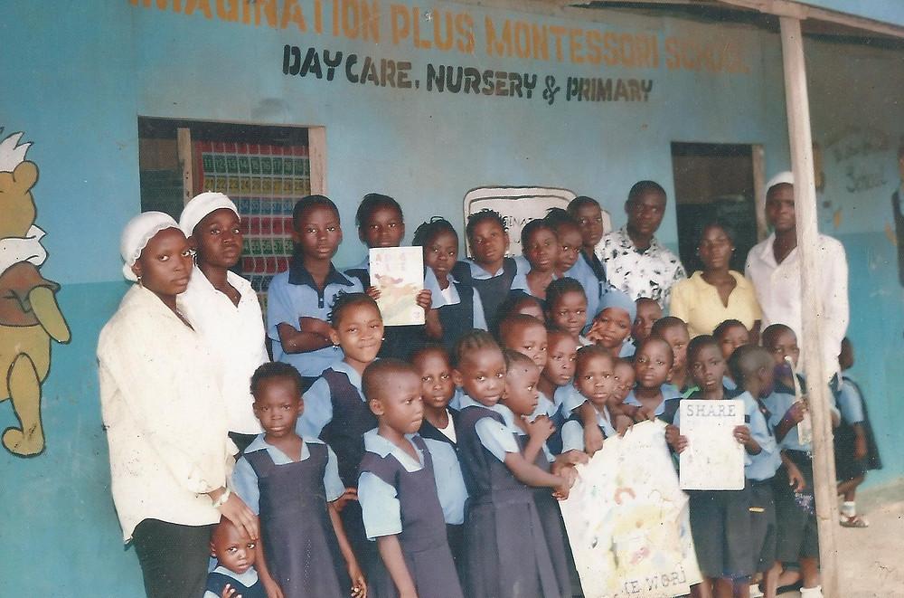 Chiemeka speaks at a school