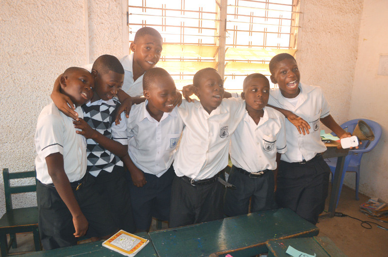 Gospel Int'l HE students having fun at the quiz contest